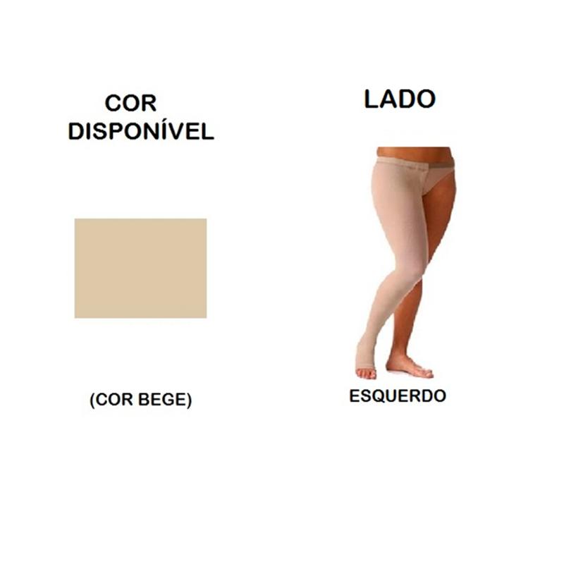 Meia Coxa com Cinta Sigvaris Select Comfort Premium 20-30mmHg Lado Esquerdo