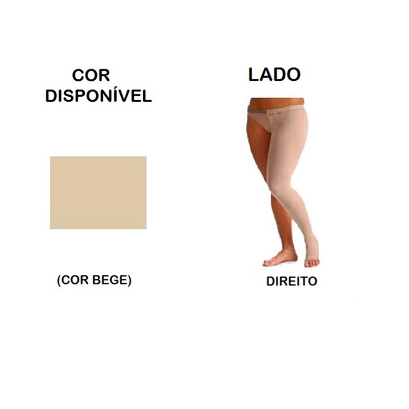 Meia Coxa com Cinta Sigvaris Select Comfort Premium 30-40mmHg Lado Direito