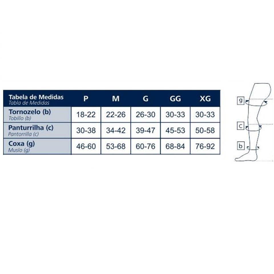 Meia de Compressão Sigvaris Antitrombo 7/8 18-23mmHg Cor Branca