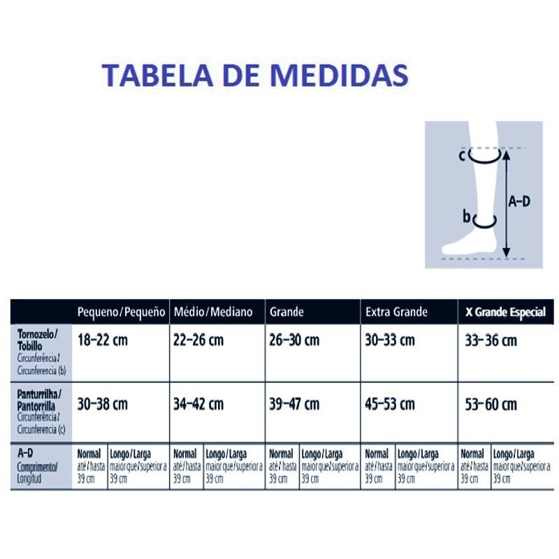 Meia de Compressão Sigvaris Casual 3/4 20-30mmHg Cor Bege