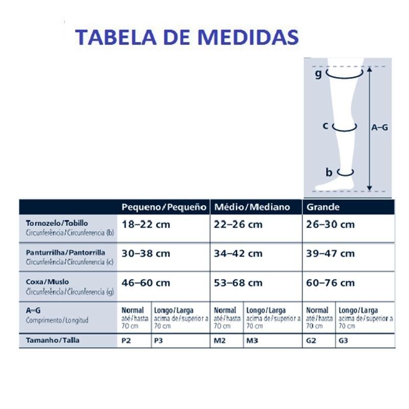 Meia de Compressão Sigvaris Ever Sheer 7/8 20-30mmHg Ponteira Fechada