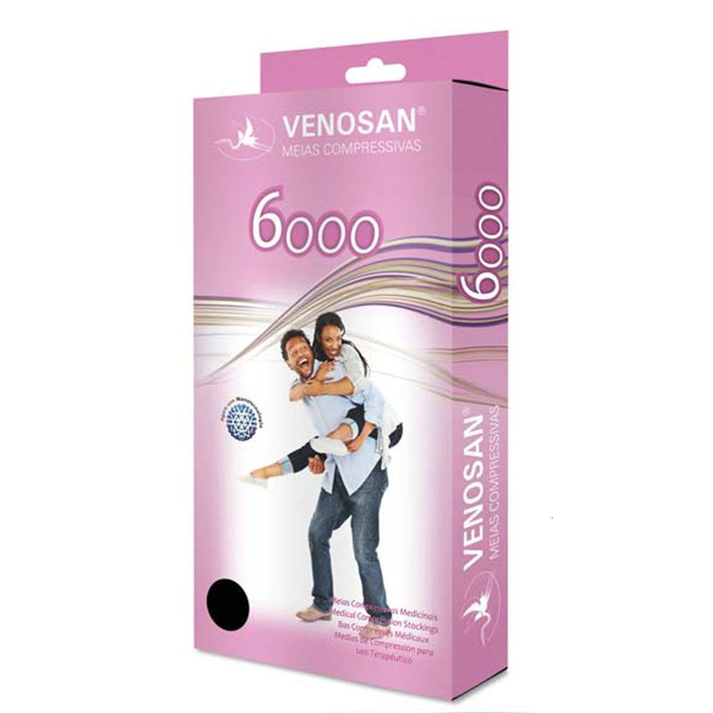 Meia de Compressão Venosan 6000 3/4 20-30mmHg Cor Bege Pé Fechado