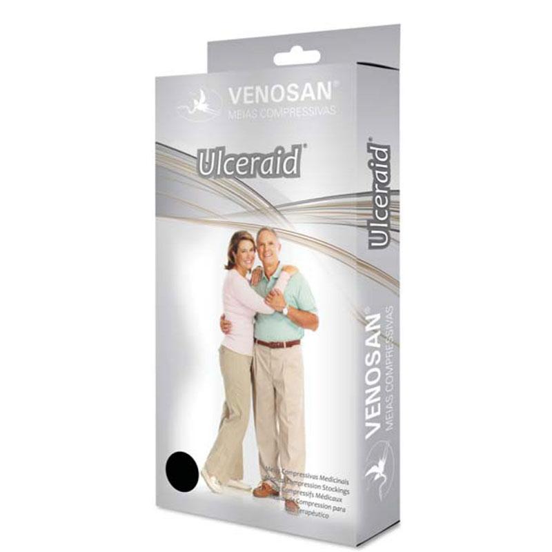 Meia de Compressão Venosan Kit Ulceraid 3/4 30-45mmHg