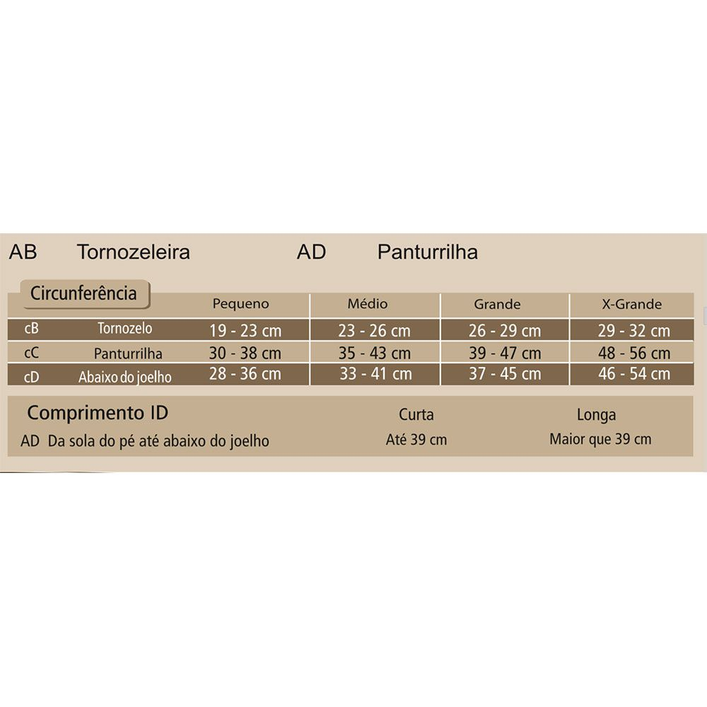Meia de Compressão Venosan Ulcercomfort com Zíper 3/4 30-45mmHg