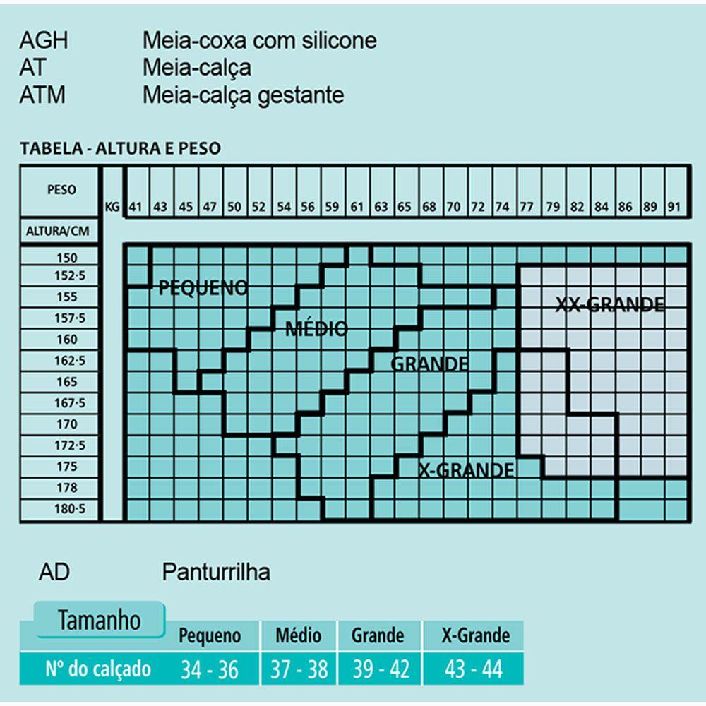 Meia de Média Compressão Venosan Legline 7/8 20-30mmHg Cor Olinda