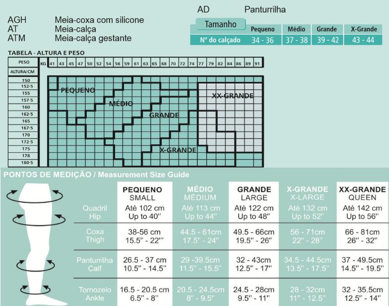 Meia de Suave Compressão Venosan Legline 7/8 15-23mmHg Cor Sahara