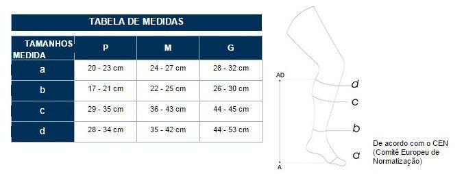 Meia Selecta 3/4 20-30mmHg Modelo 4010 Helanca