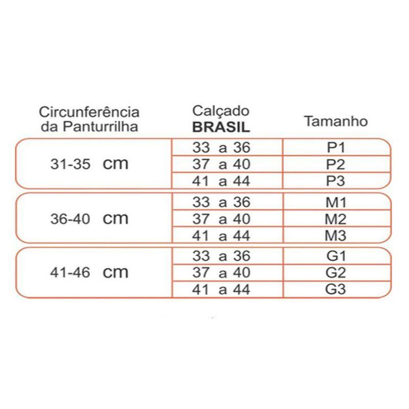 Meia Sigvaris 3/4 Performance de Média Compressão para Corrida Cor Preta