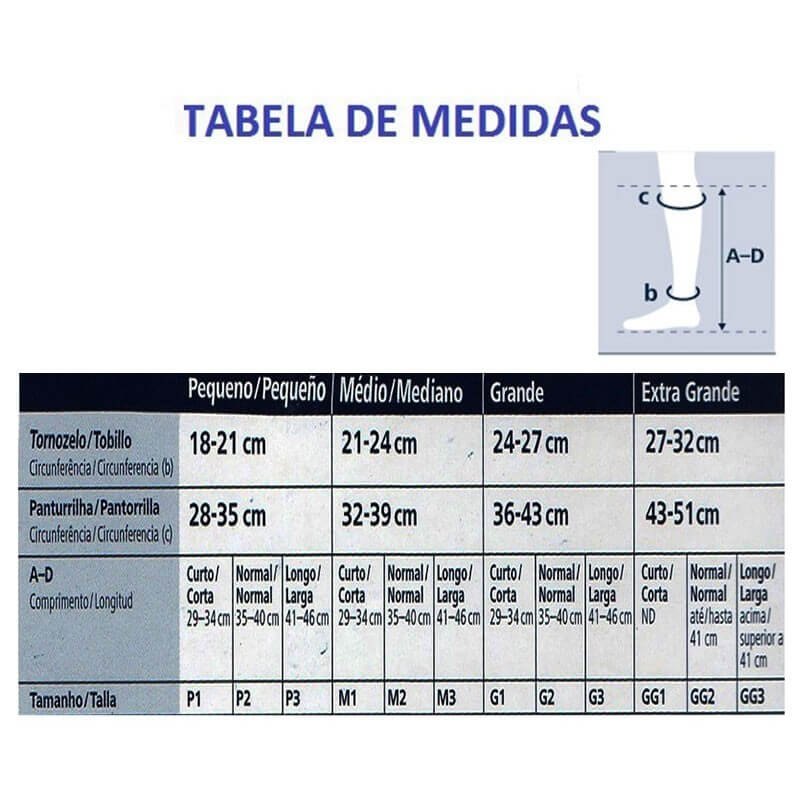 Meia Sigvaris 3/4 Select Comfort Premium 20-30mmHg Cor Natural Escuro