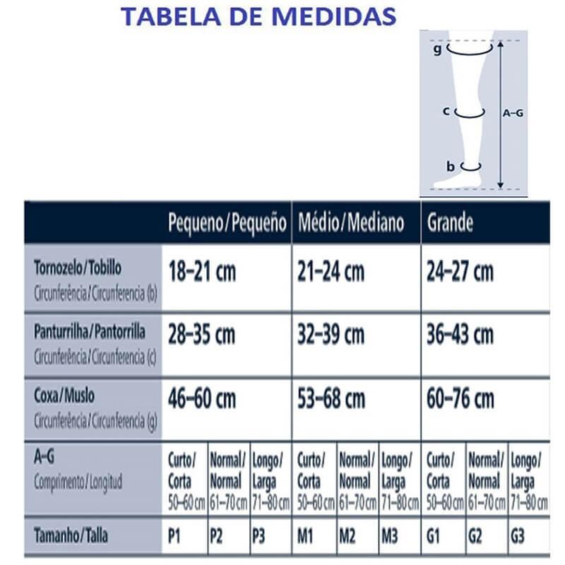 Meia Sigvaris 3/4 Select Comfort Premium 30-40mmHg Cor Natural Escuro