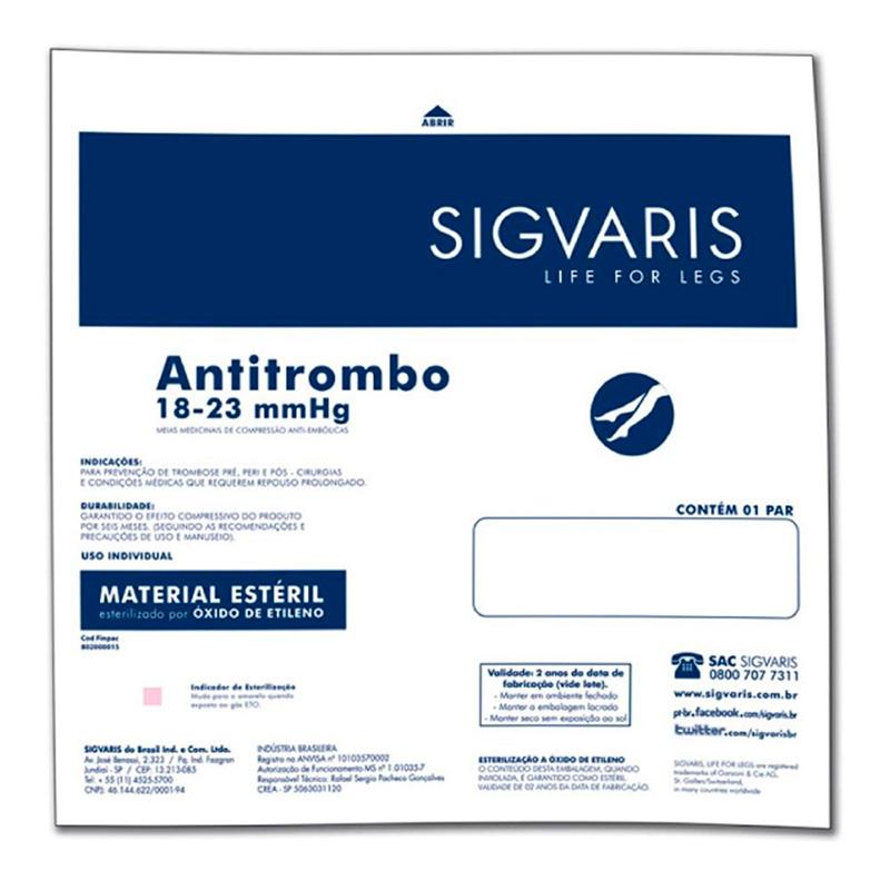 Meia de Compressão Sigvaris Antitrombo 7/8 Suave Cor Branca
