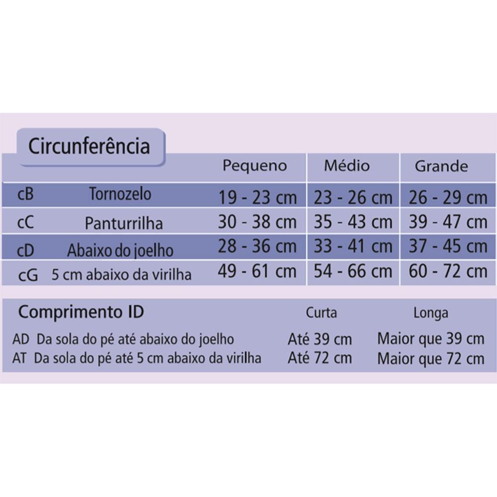 Meia Venosan Comfortline 3/4 30-40mmHg Cor Bege
