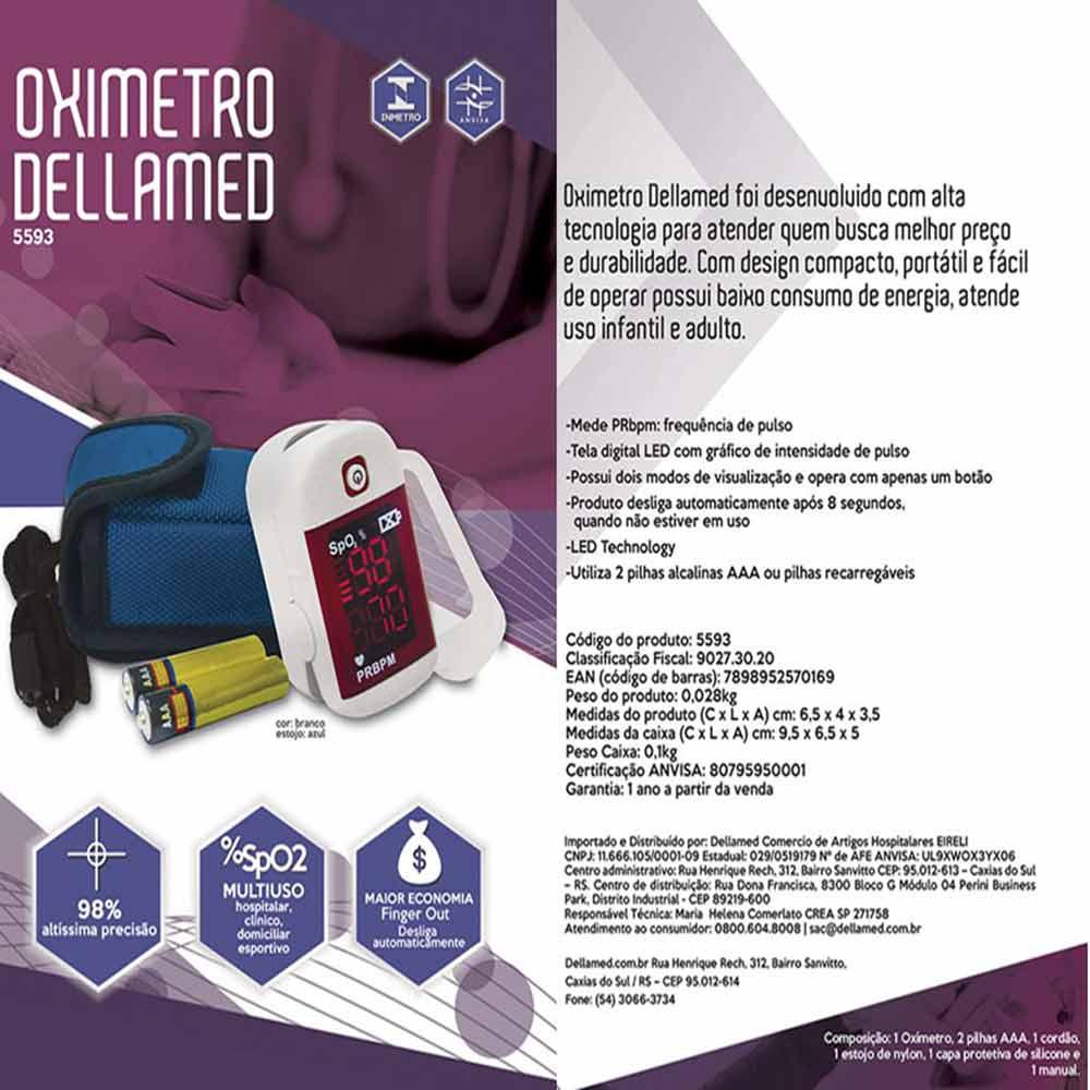 Oximetro de Pulso Portátil de Dedo Dellamed