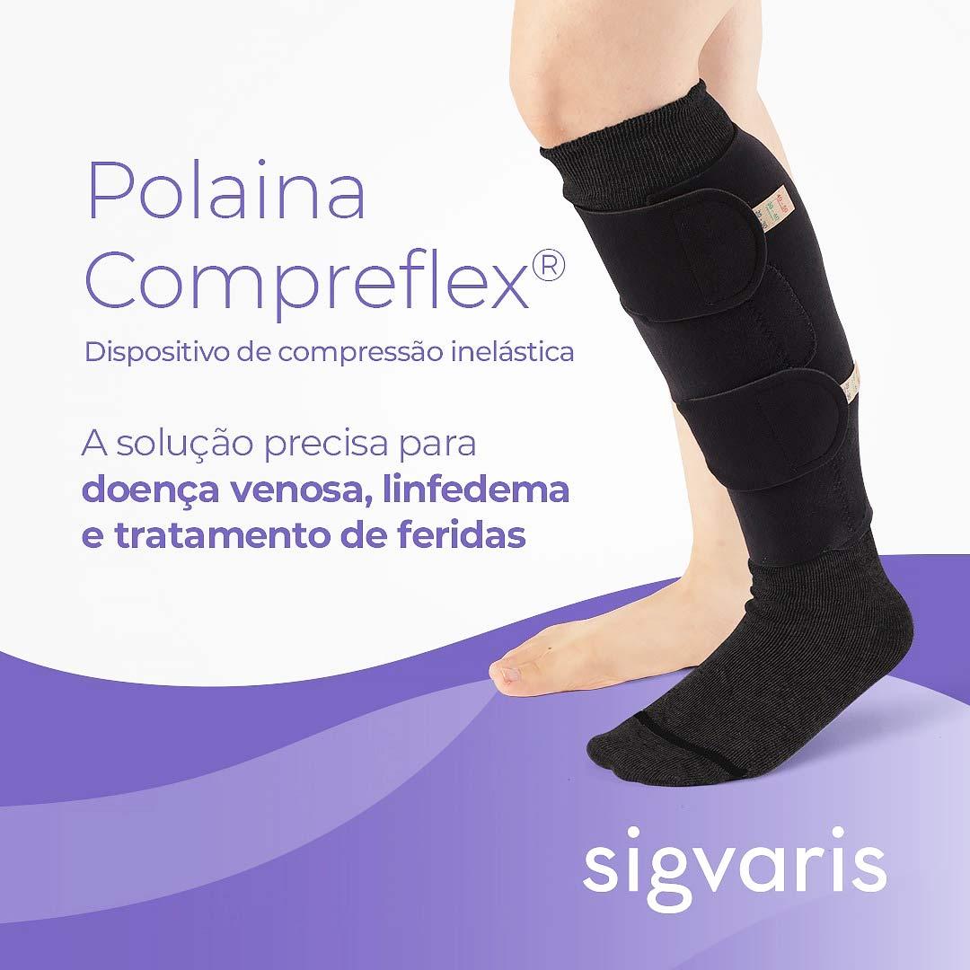 Polaina Compreflex Standard Sigvaris com Compressão Inelástica