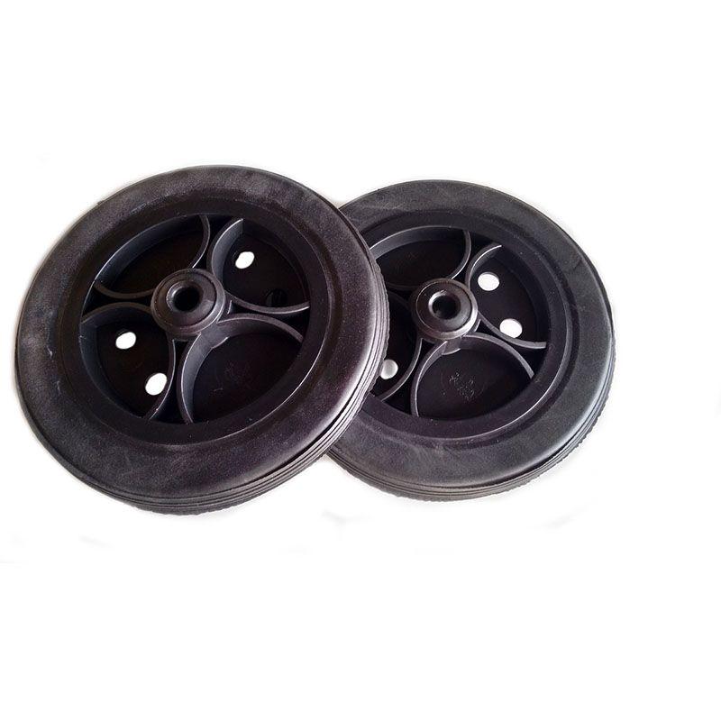 Roda aro 6 Preta com pneu maciço preto