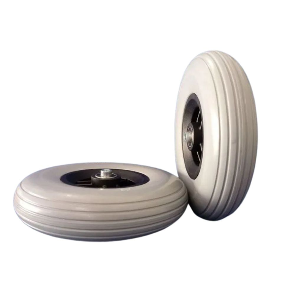 Roda aro 8 pvc com pneu maciço Jaguaribe par