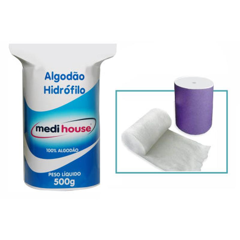 Rolo de Algodão Hidrófilo 500g- Medi House