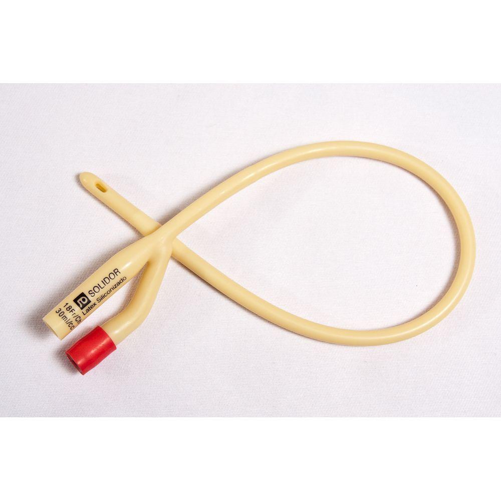 Sonda de foley 2 vias latex / numero 18 - solidor 10 unidades