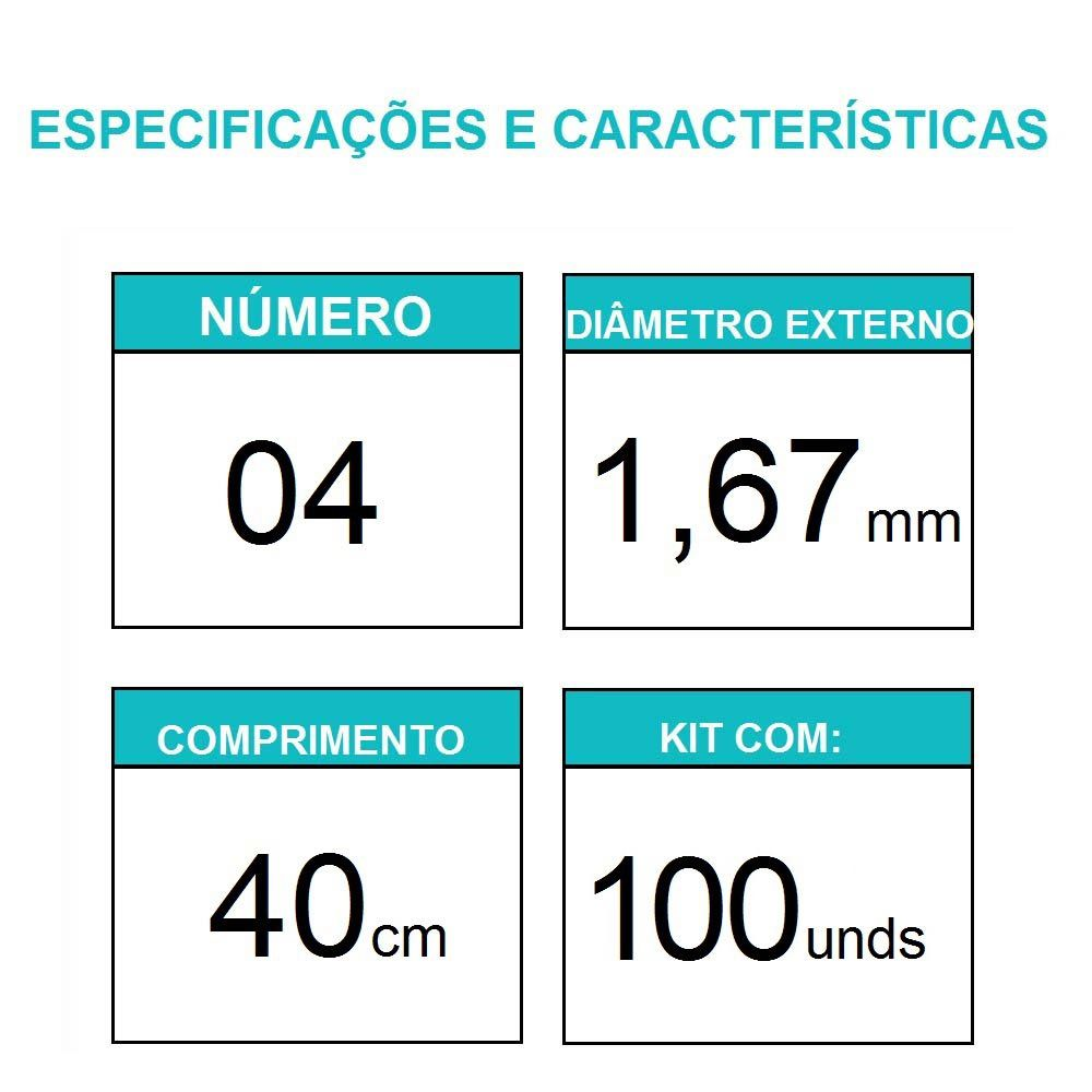Sonda Uretral Calibre 04 - Mark Med / 100 unidades