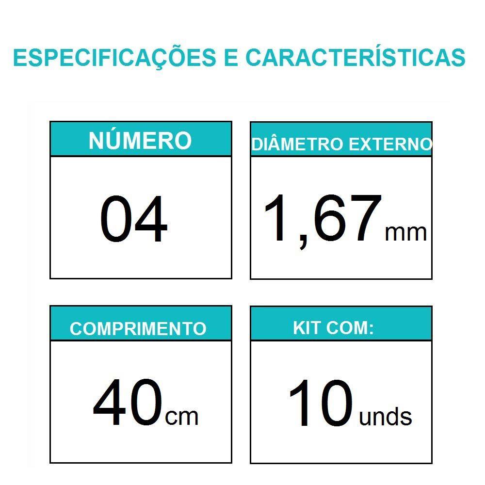 Sonda Uretral Calibre 04 - Mark Med / 10 unidades
