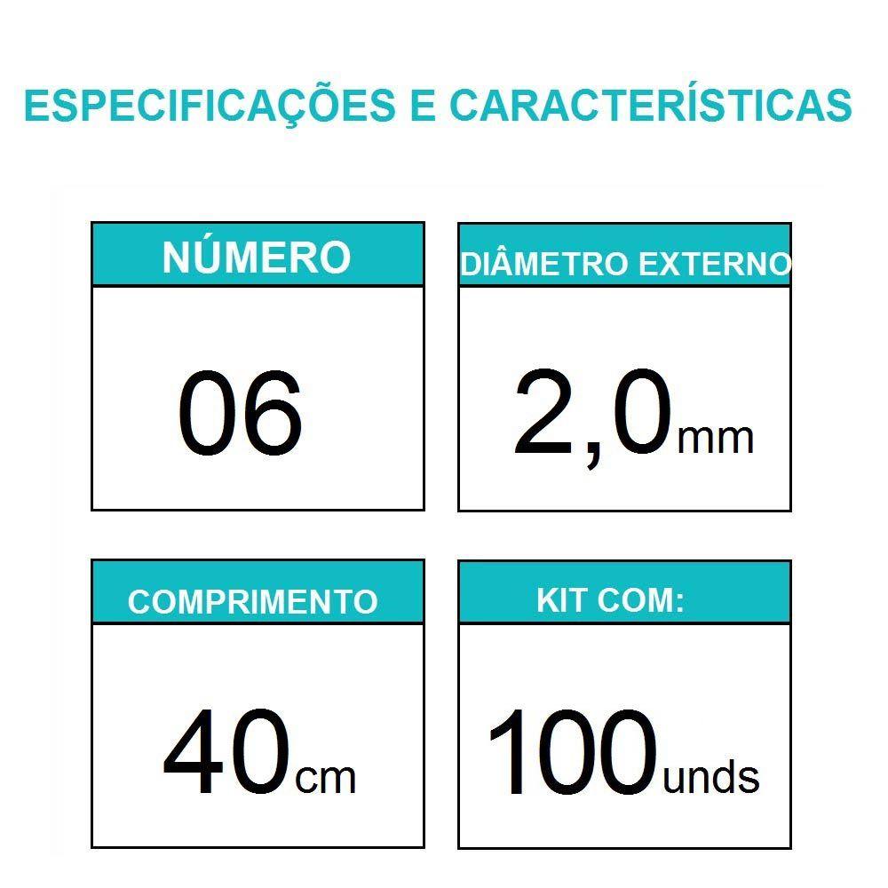 Sonda Uretral Calibre 06 - Mark Med / 100 unidades