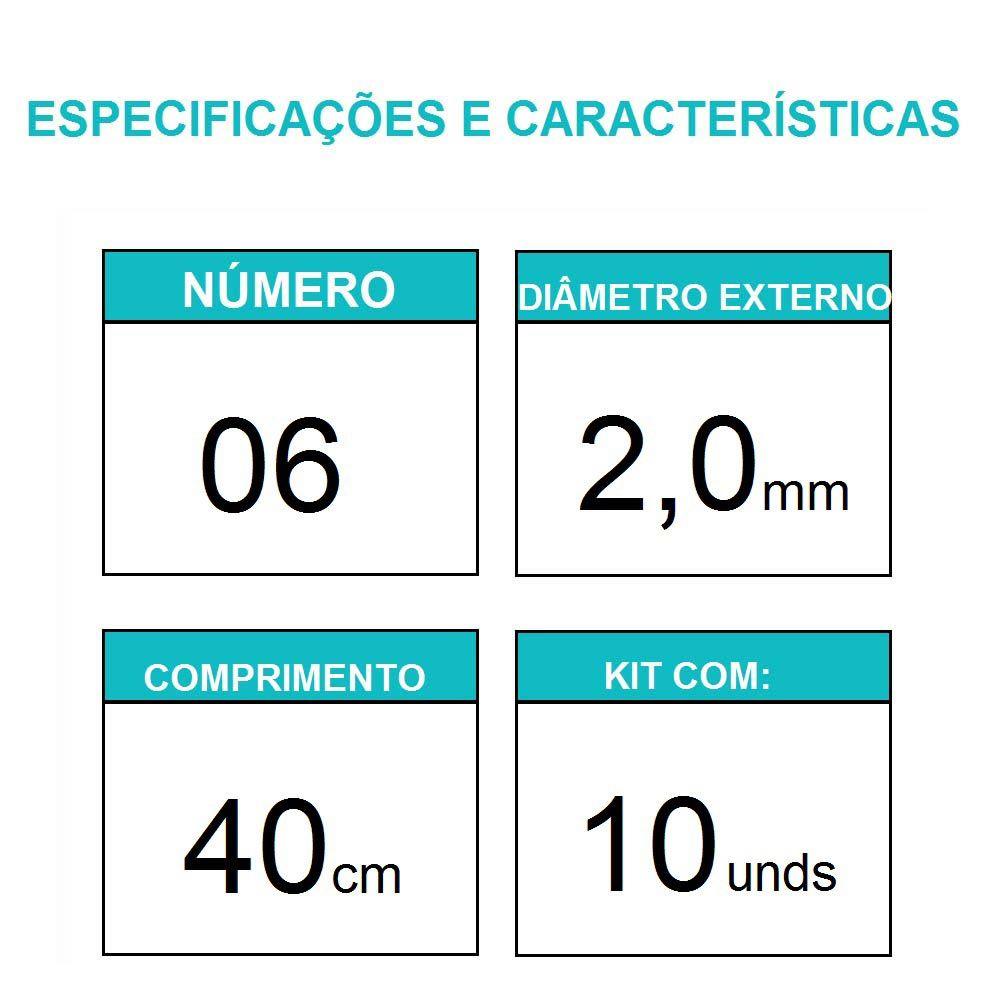 Sonda Uretral Calibre 06 - Mark Med / 10 unidades