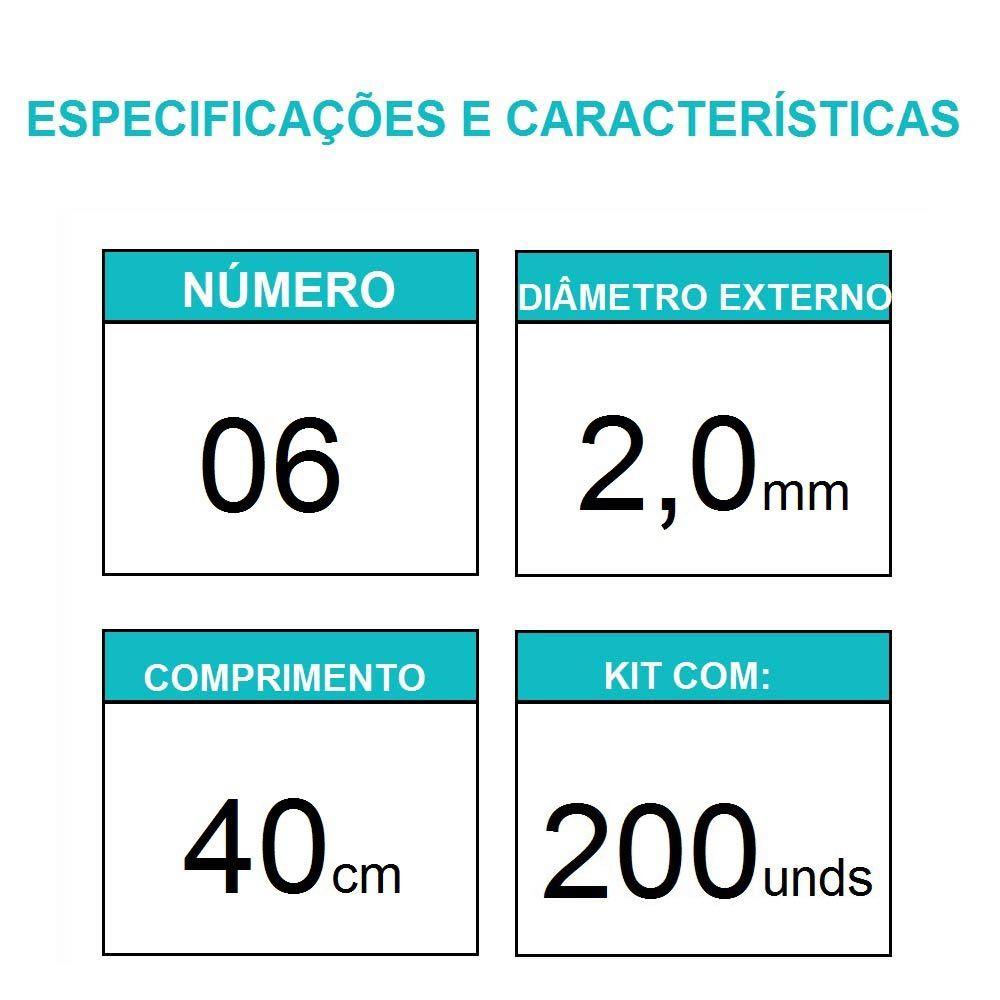 Sonda Uretral Calibre 06 - Mark Med / 200 Unidades