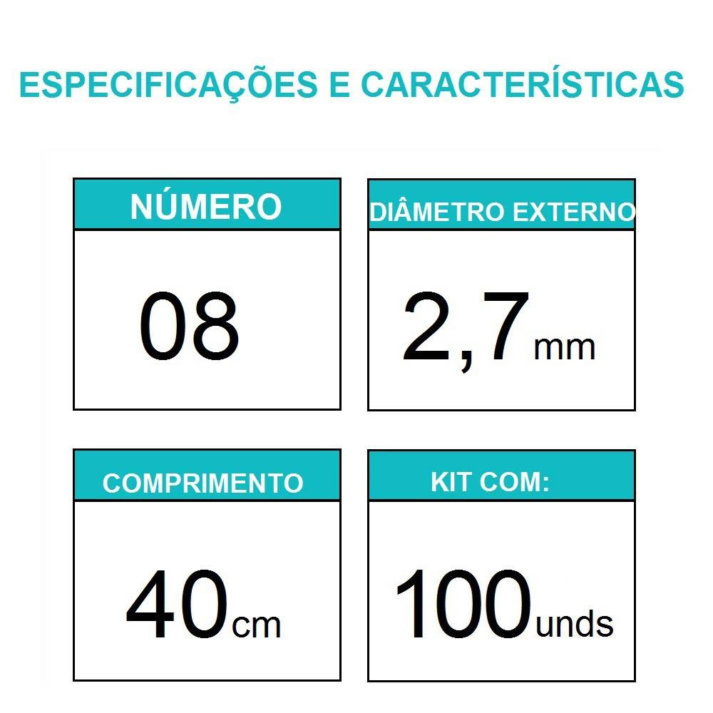 Sonda Uretral Calibre 08 - Mark Med / 100 unidades