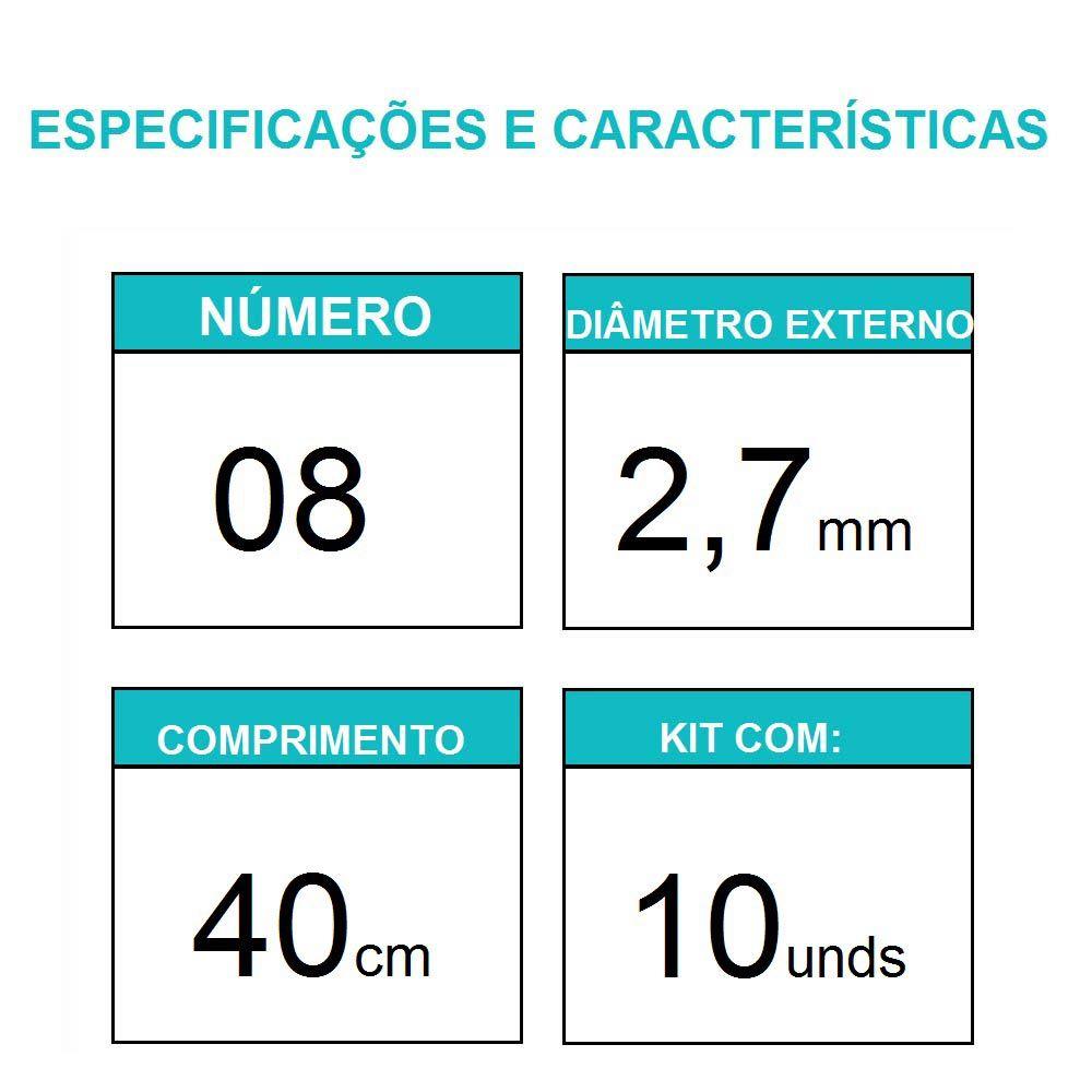 Sonda Uretral Calibre 08 - Mark Med / 10 unidades