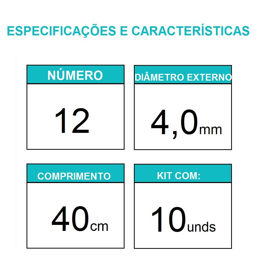 Sonda Uretral Calibre 12 - Mark Med / 10 unidades