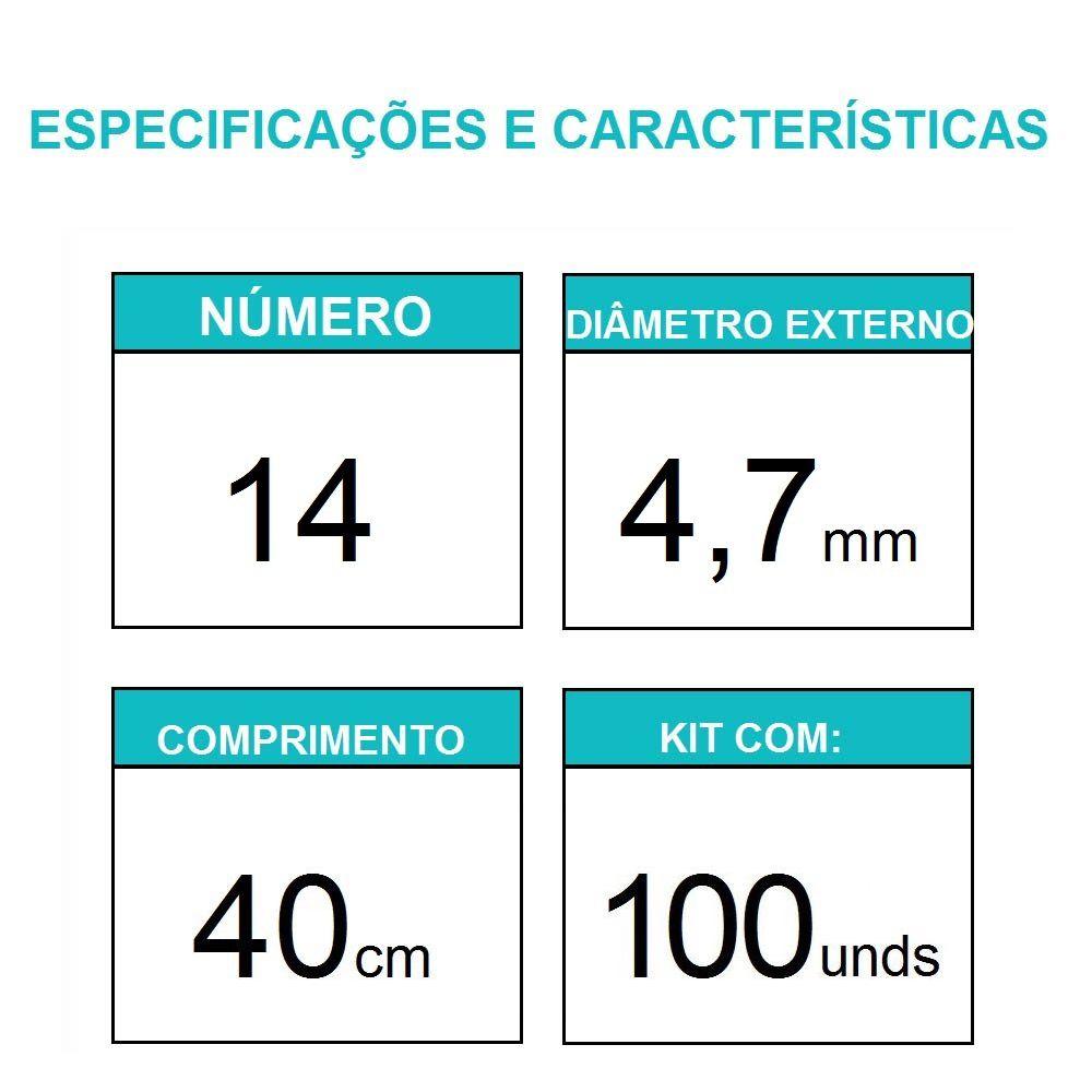 Sonda Uretral Calibre 14 - Mark Med / 100 unidades