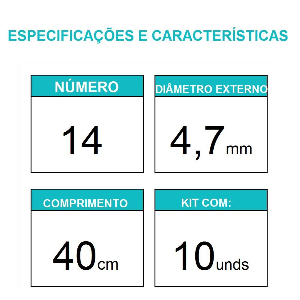 Sonda Uretral Calibre 14 - Mark Med / 10 unidades