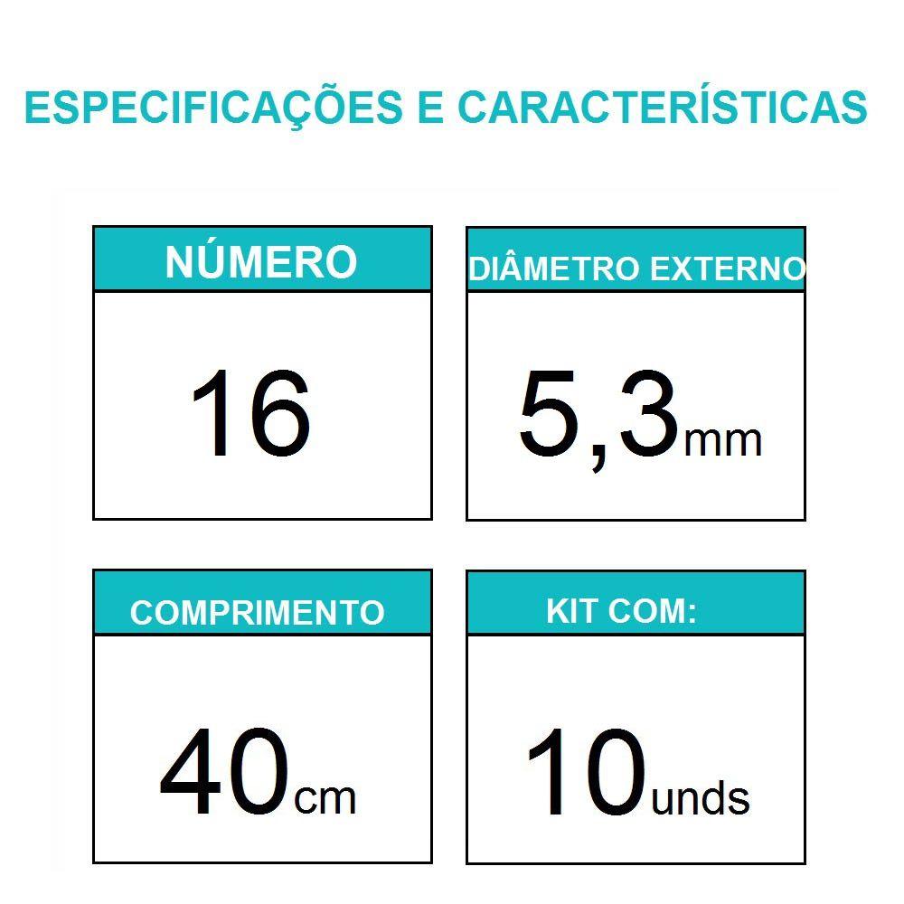 Sonda Uretral Calibre 16 - Mark Med / 10 unidades