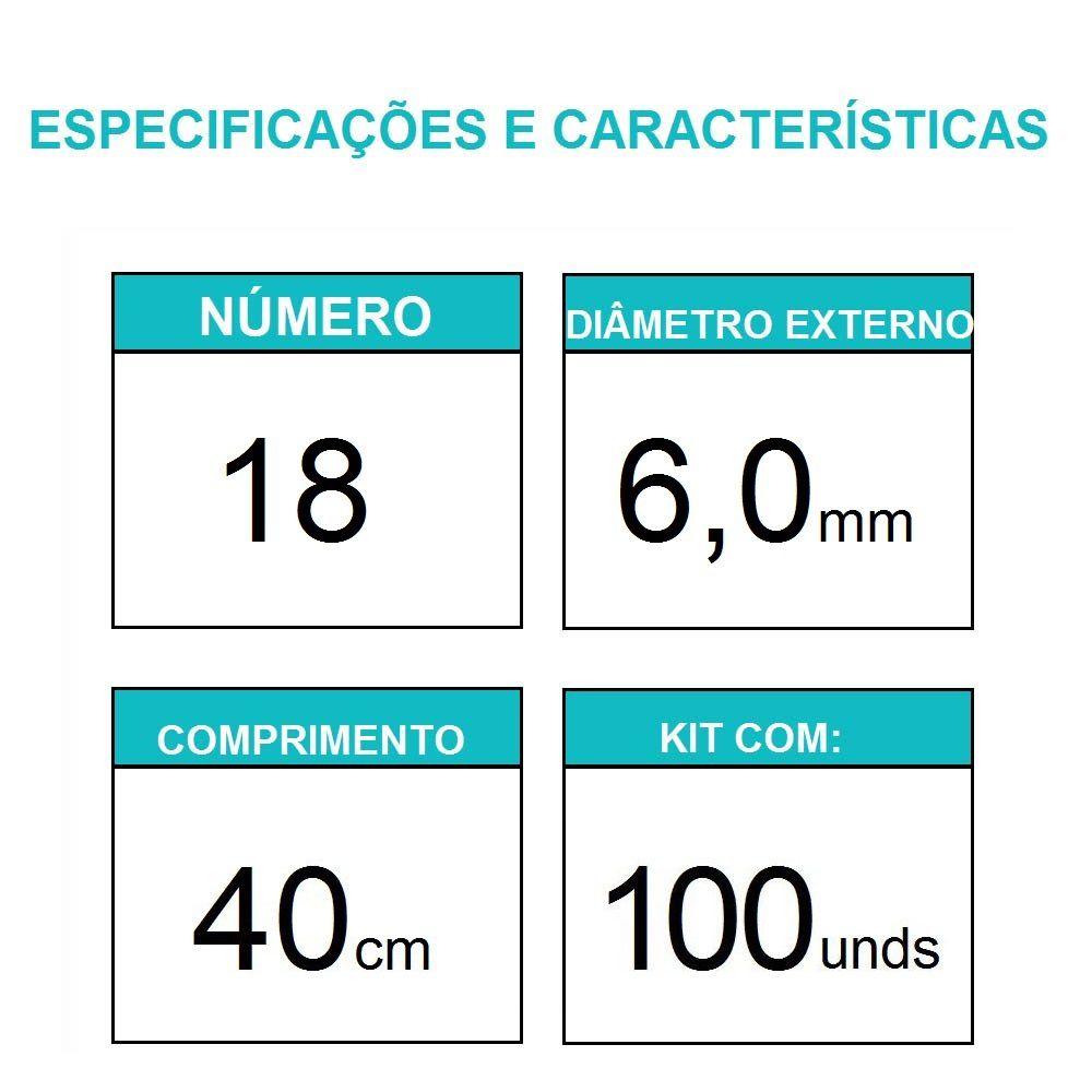 Sonda uretral calibre 18 / 100 unidades - Mark Med