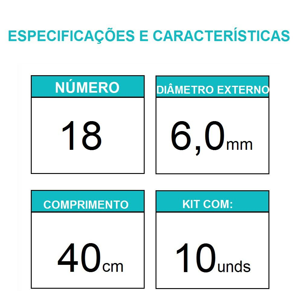 Sonda uretral calibre 18 / 10 unidades - Mark Med
