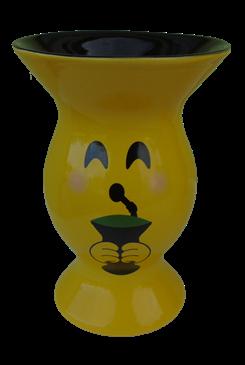 Cuia de cerâmica amarela