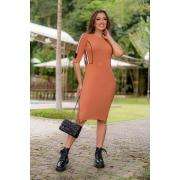 93023 -Vestido canelada c/ det. retilinea ( com elastano) ( produto em promoçao nao tem desconto com pagamento avista )