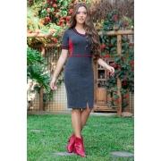 93119-vestido em malha canelada c/ det.retilinea  ( com elastano)