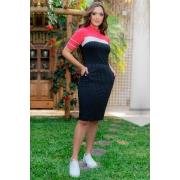 93122-vestido collor block em malha c/ bolsos (com elastano)