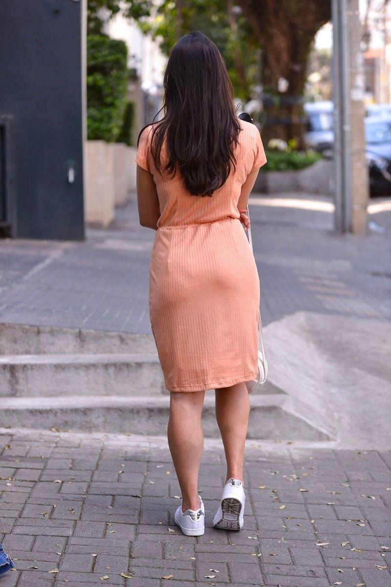 92267  Vestido em malha canelada c/forro det.cintura/PRODUTO NA PROMOÇÃO NÃO TEM DESCONTO NO PAGAMENTO A VISTA
