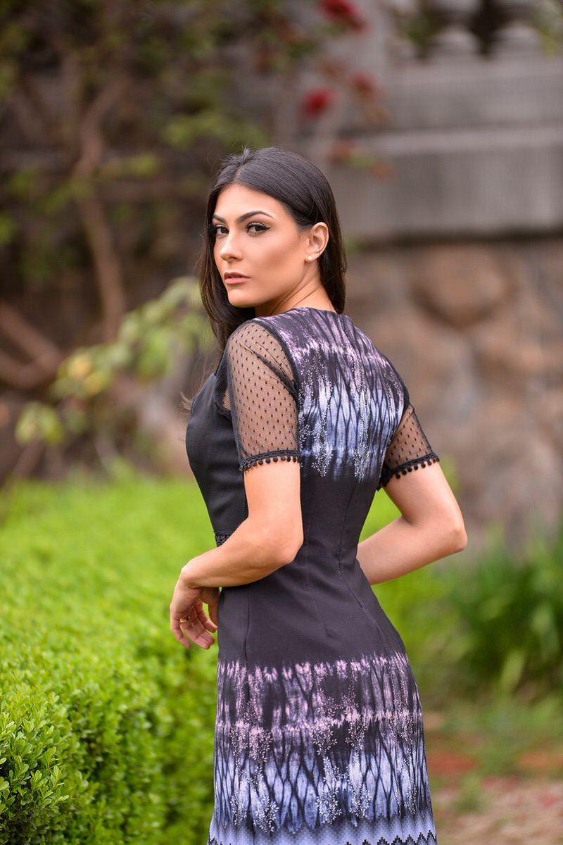 92294- vestido alfaiaria com manga de tule /PRODUTO NA PROMOÇÃO NÃO TEM DESCONTO NO PAGAMENTO A VISTA