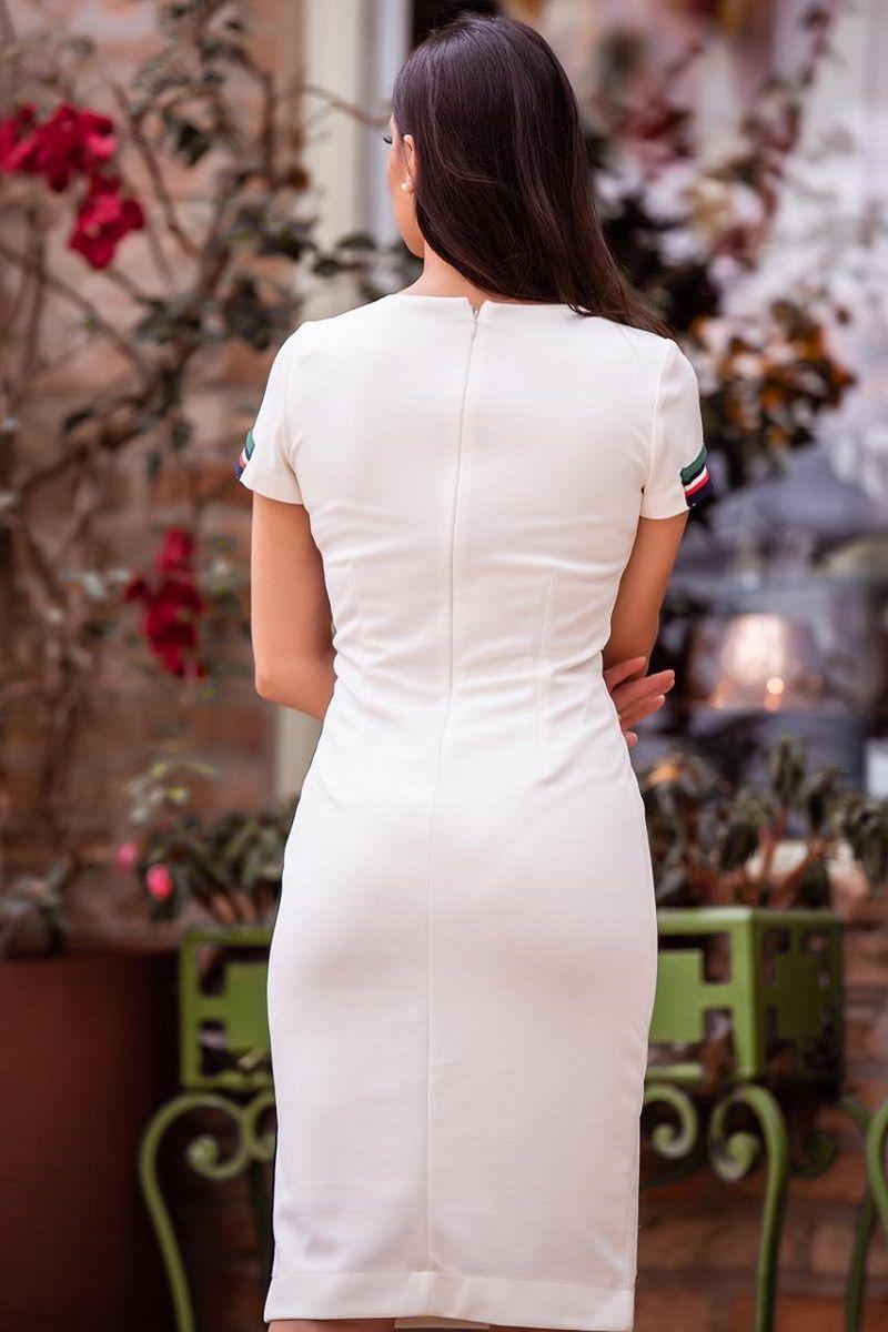 92320 vestido em malha c/ forro com detalhes na cintura e nas mangas /PRODUTO NA PROMOÇÃO NÃO TEM DESCONTO NO PAGAMENTO A VISTA