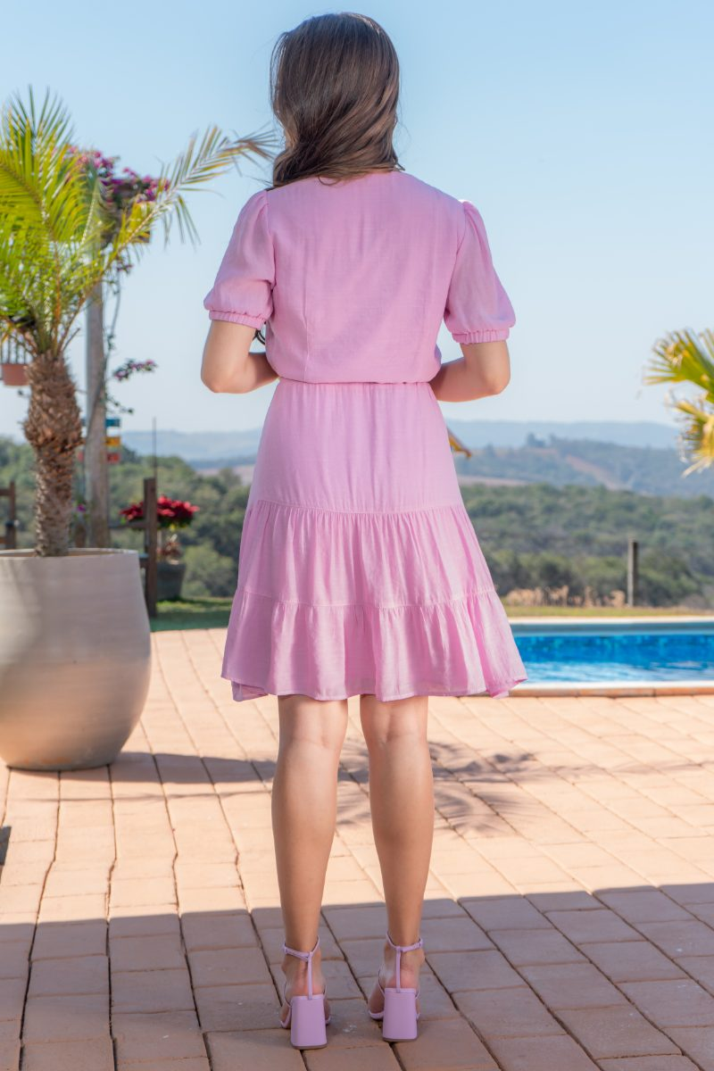 93131 - Vestido em cambraia c/det.bordados (SEM ELASTANO)