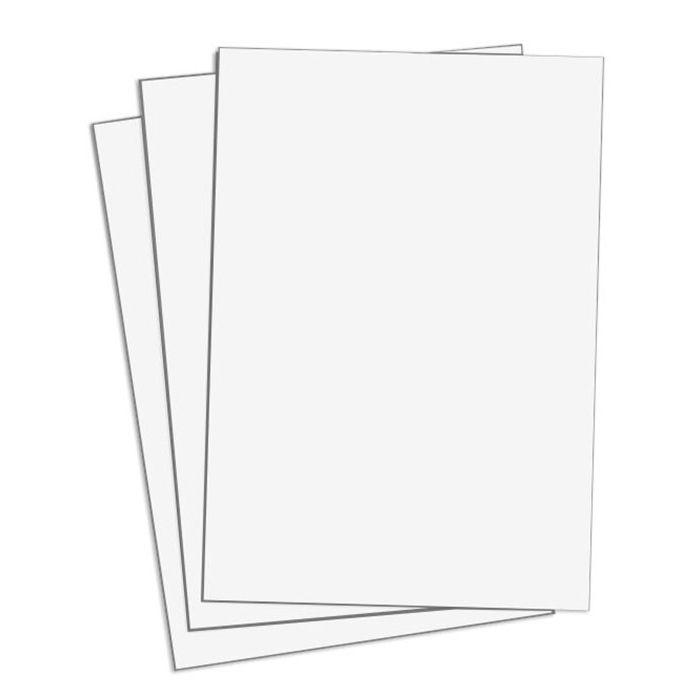 Cartaz Laminado Liso Branco A5 100 un