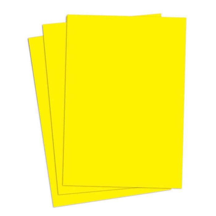 Cartaz Liso Amarelo A6 100 un