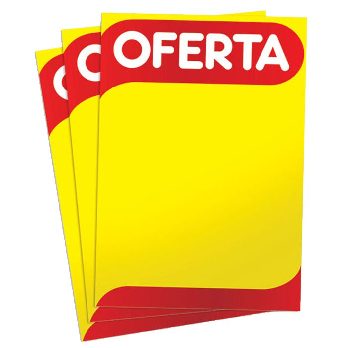 Cartaz Papel Cartão Oferta A4 100 un