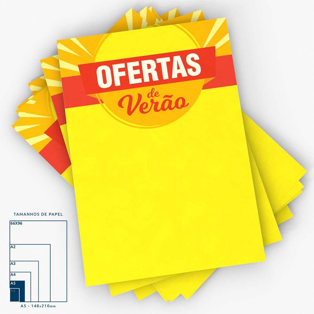 Cartaz Oferta Verão  A5 100 un