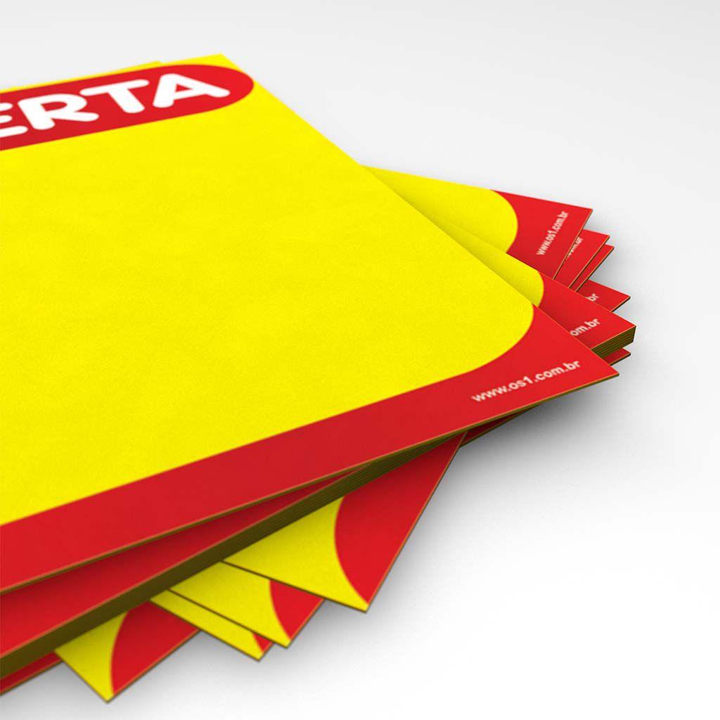 Cartaz Papel Cartão Amarelo e Vermelho Oferta A6 25 un
