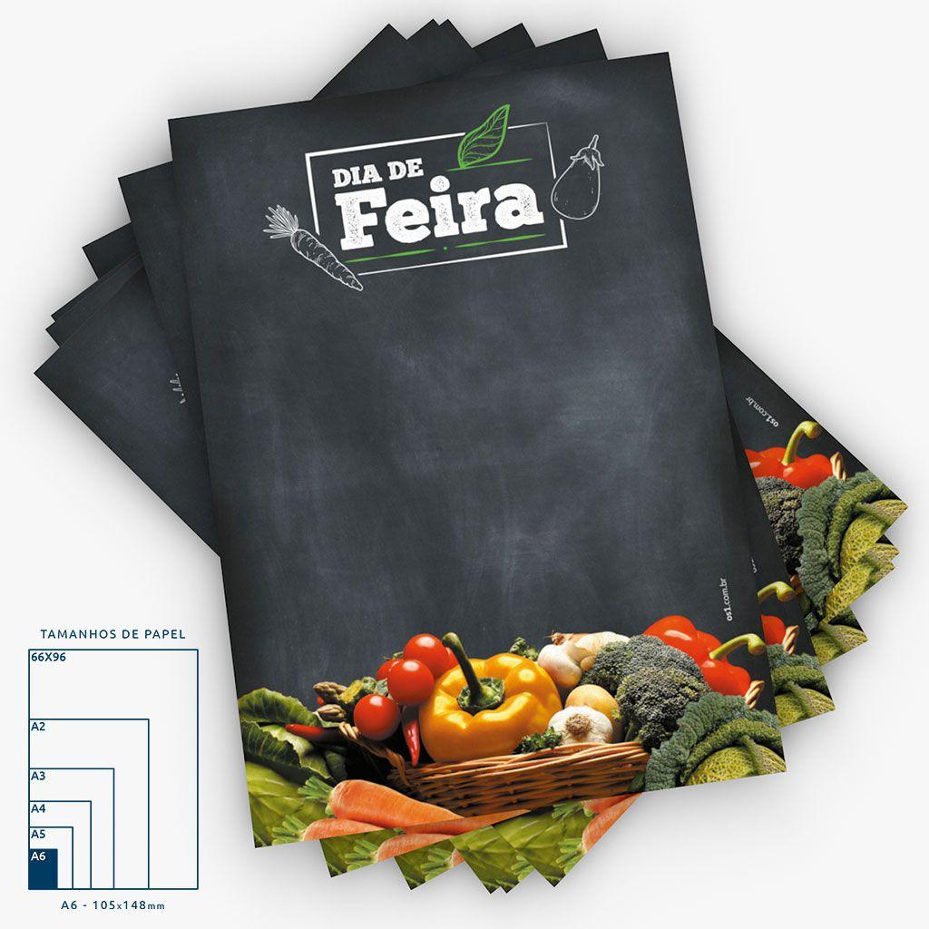 Cartaz Papel Cartão Dia de Feira Legumes A6 4x0 50 un