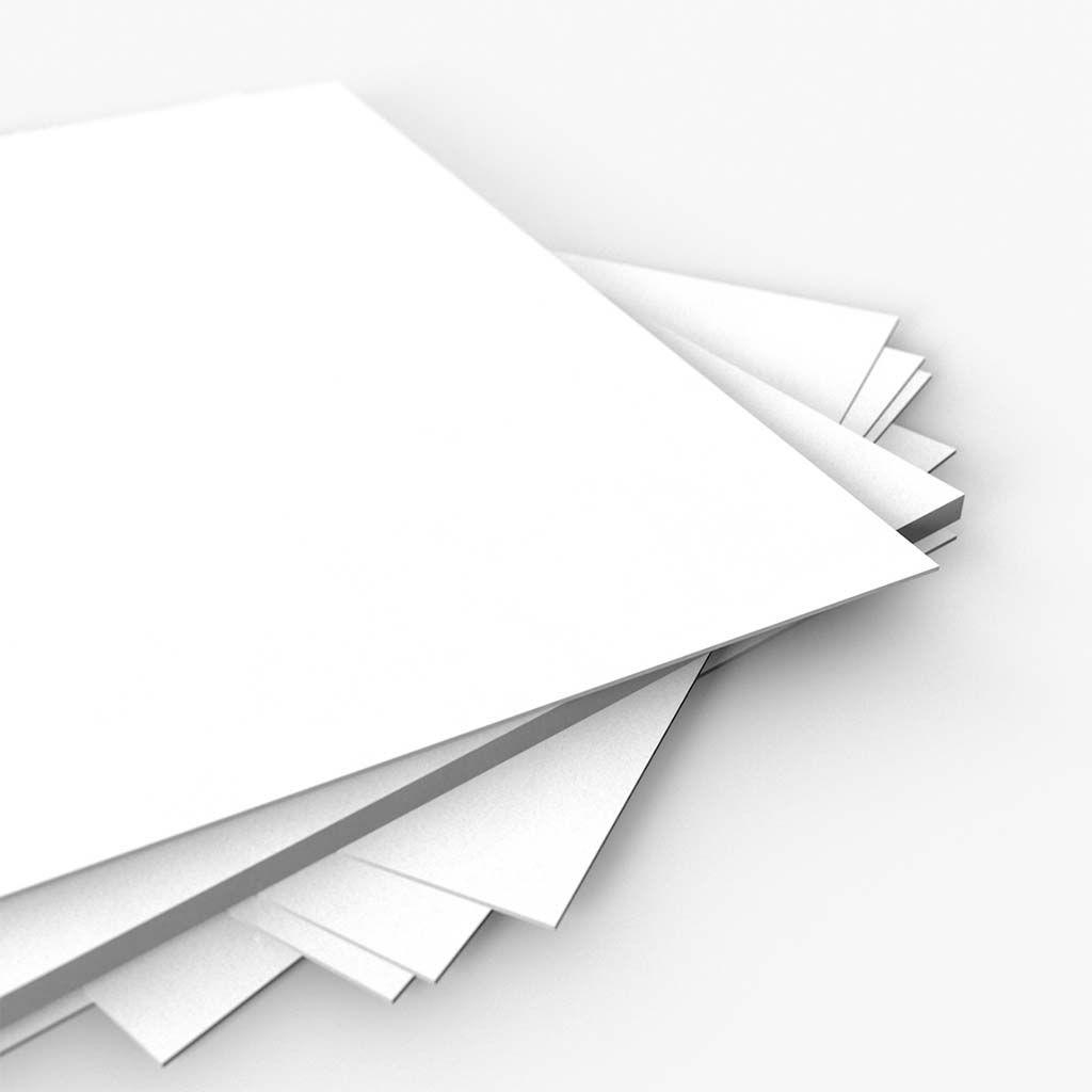 Cartaz Papel Cartão Laminado Liso Branco A5 100 un
